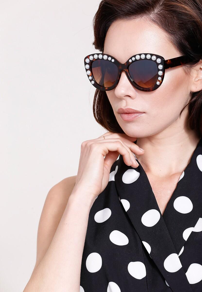 Brązowe Okulary Just By Sight