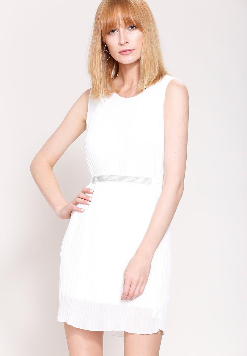 Biała Sukienka Winter Lady