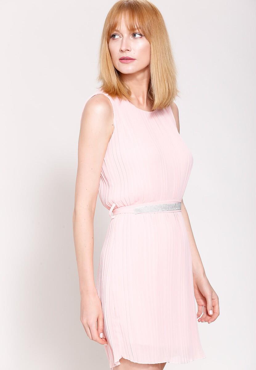 Różowa Sukienka Winter Lady