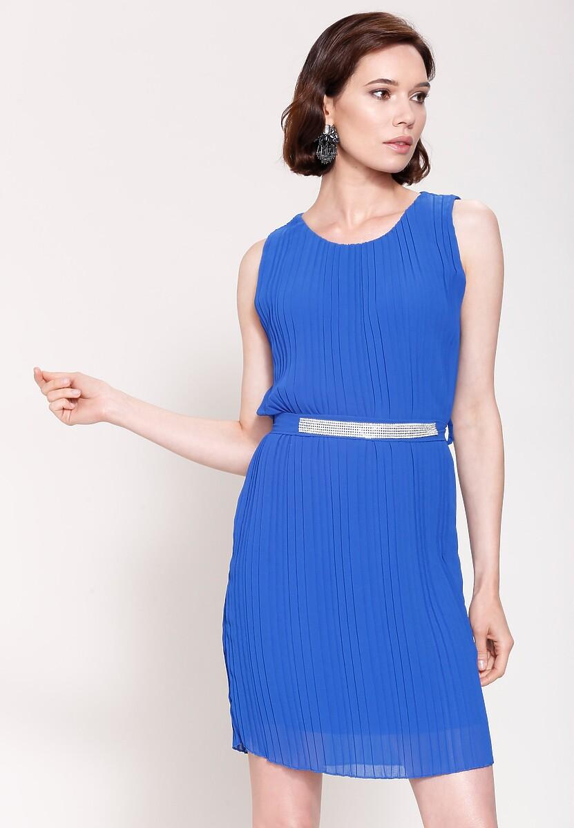 Kobaltowa Sukienka Winter Lady
