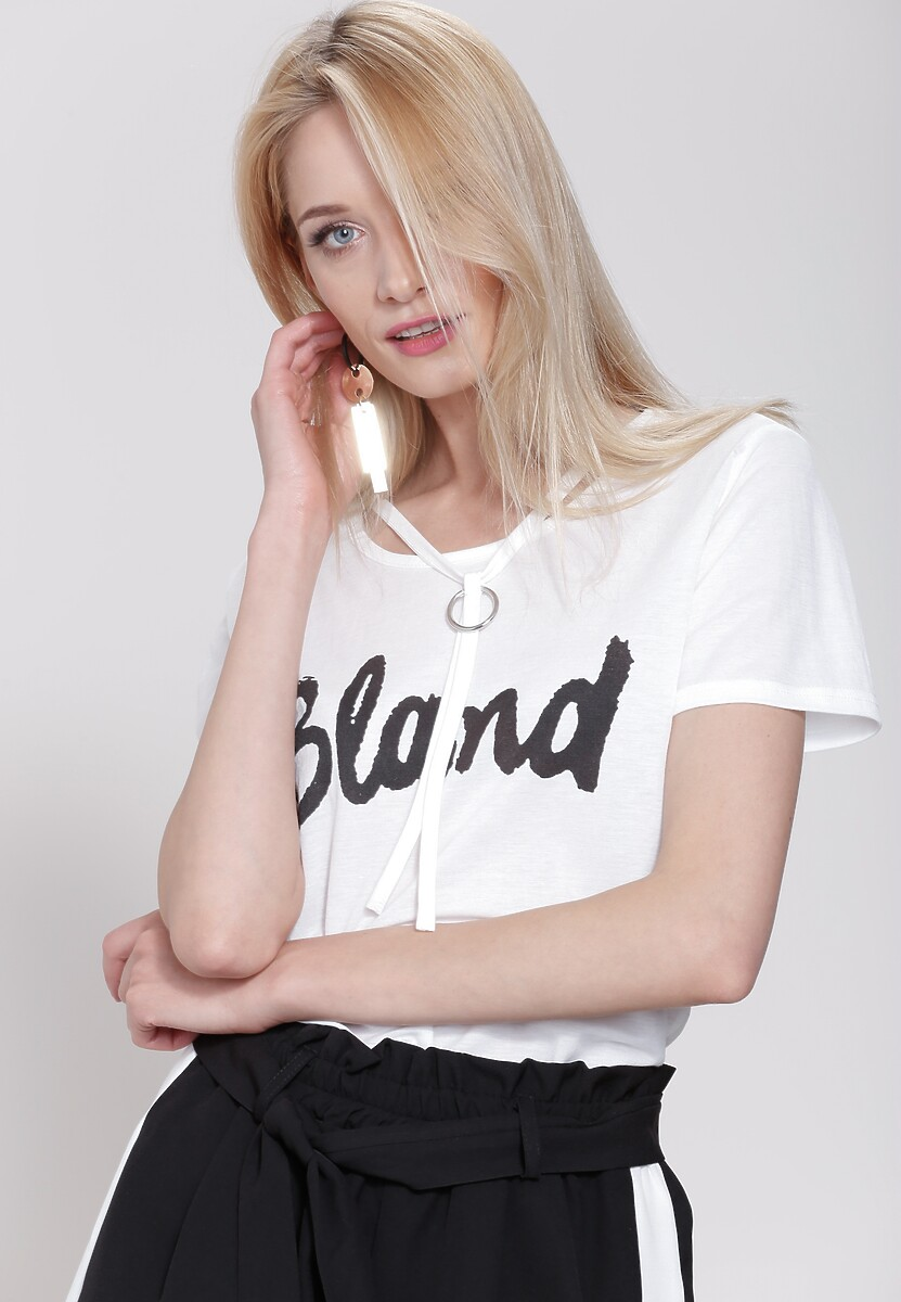 Biała Bluzka Blond
