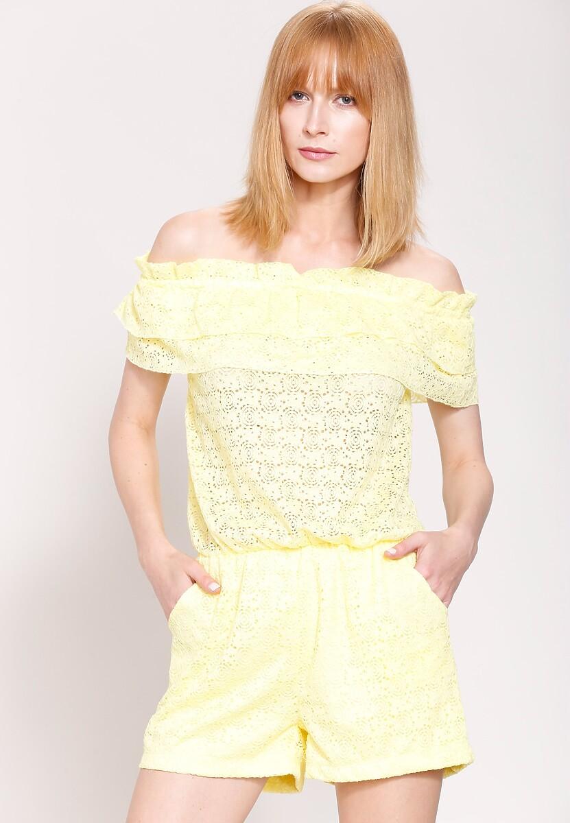 Żółty Kombinezon Nonchalant Look