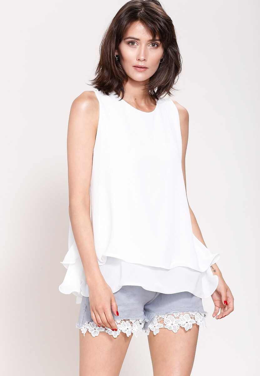 Biała Bluzka Flirty Girl
