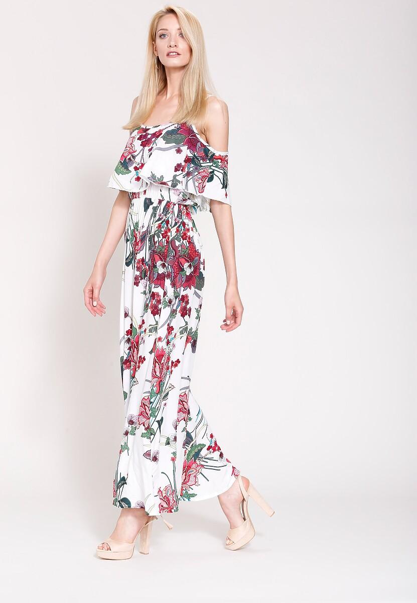 Biała Sukienka Floral Goddess