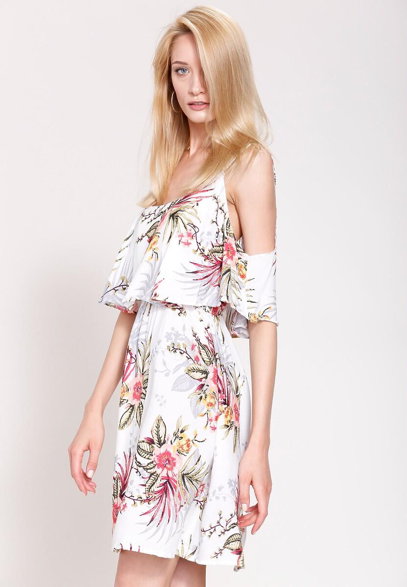 Biała Sukienka Bohemian's Garden