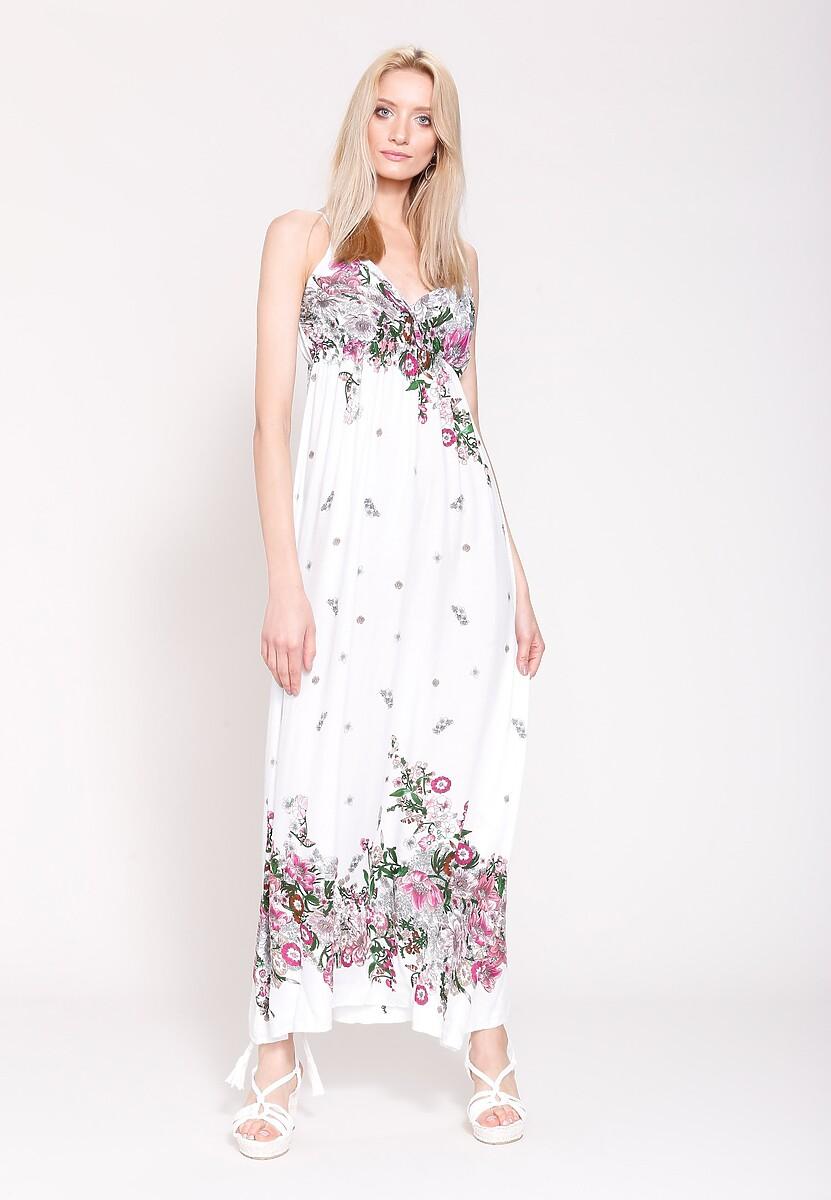 Biała Sukienka Mexican Summer