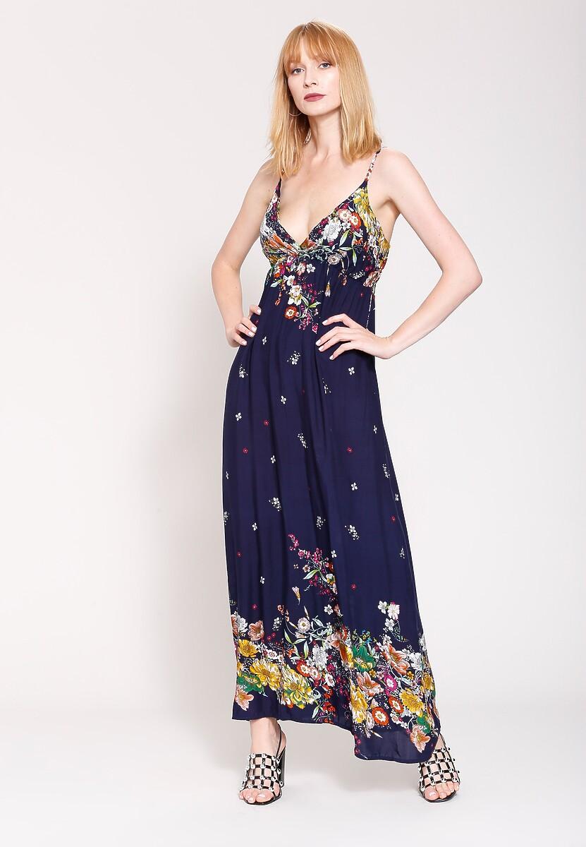 Granatowa Sukienka Mexican Summer