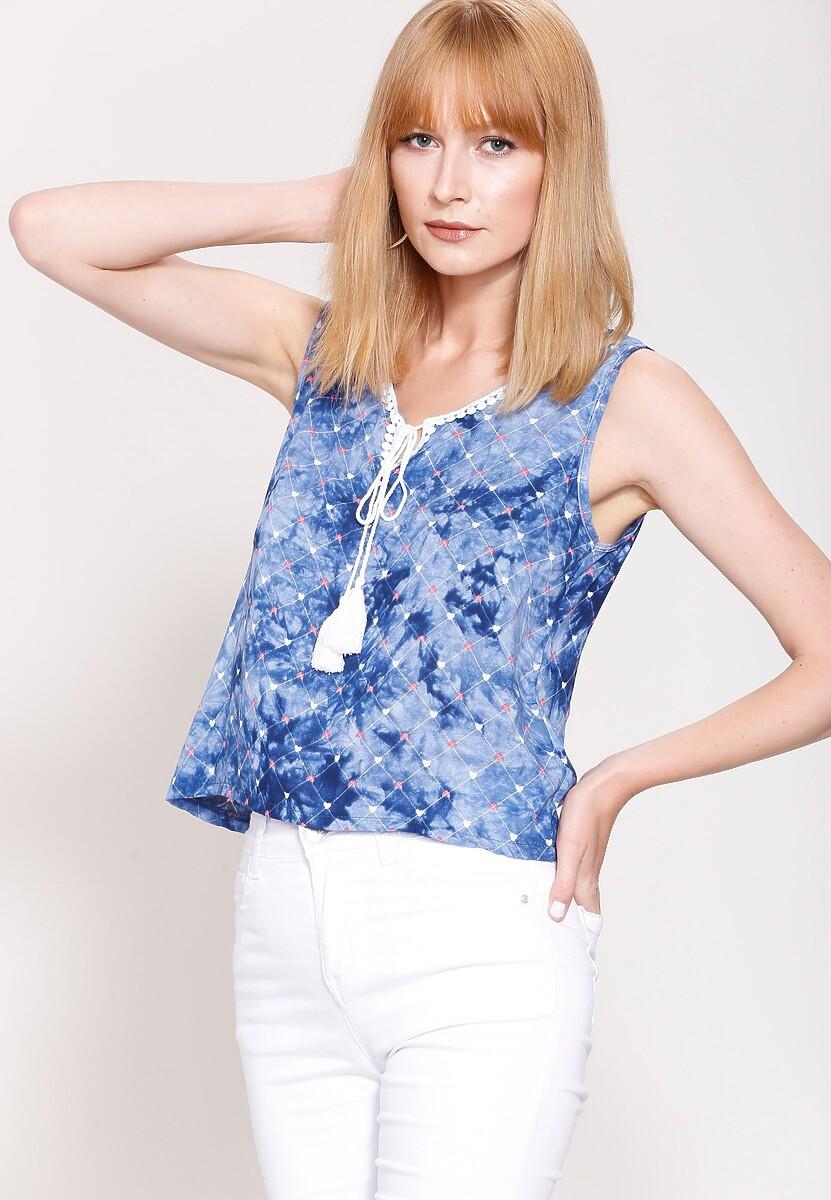 Niebieska Bluzka  Blond Venus