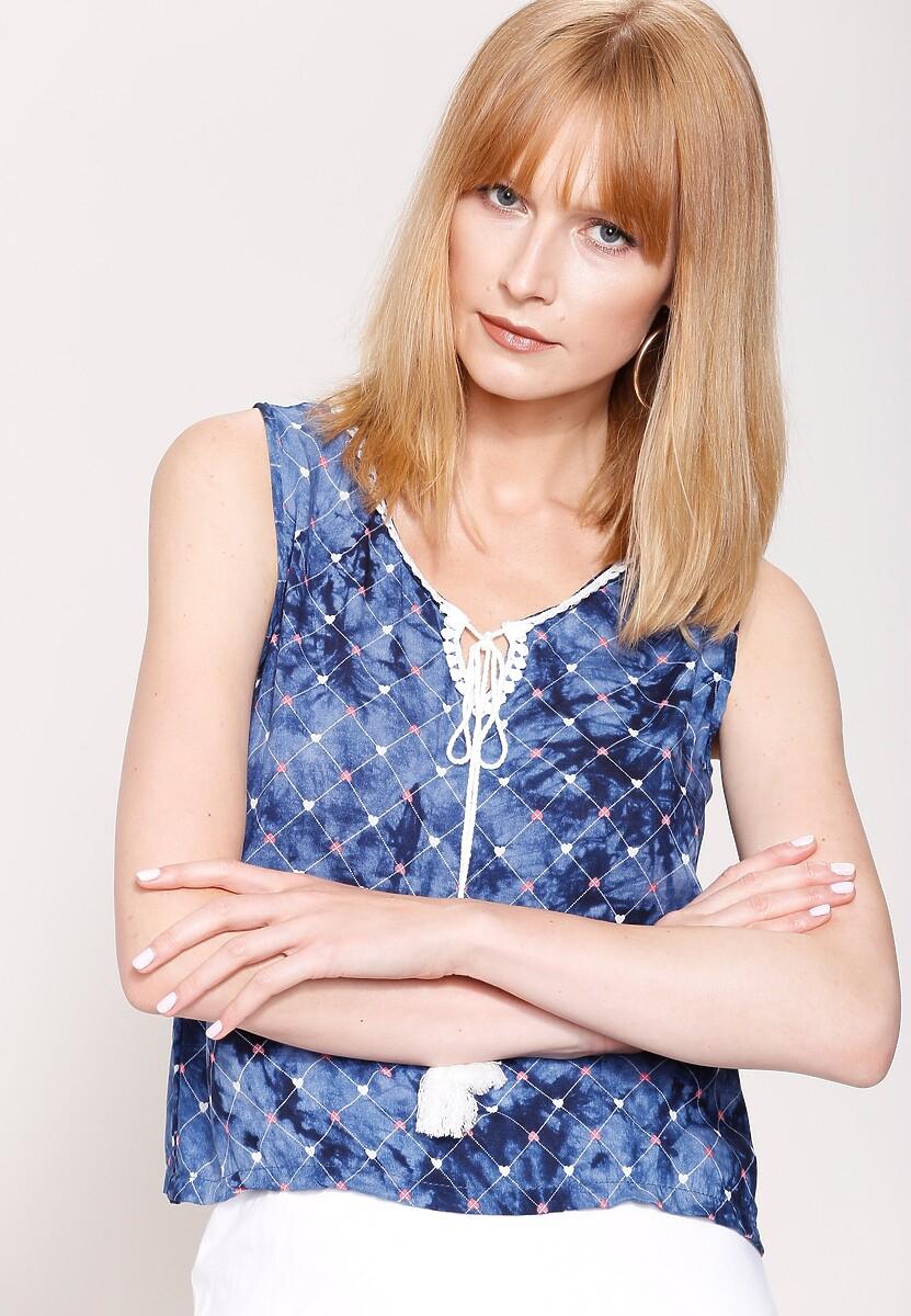 Granatowa Bluzka Blond Venus