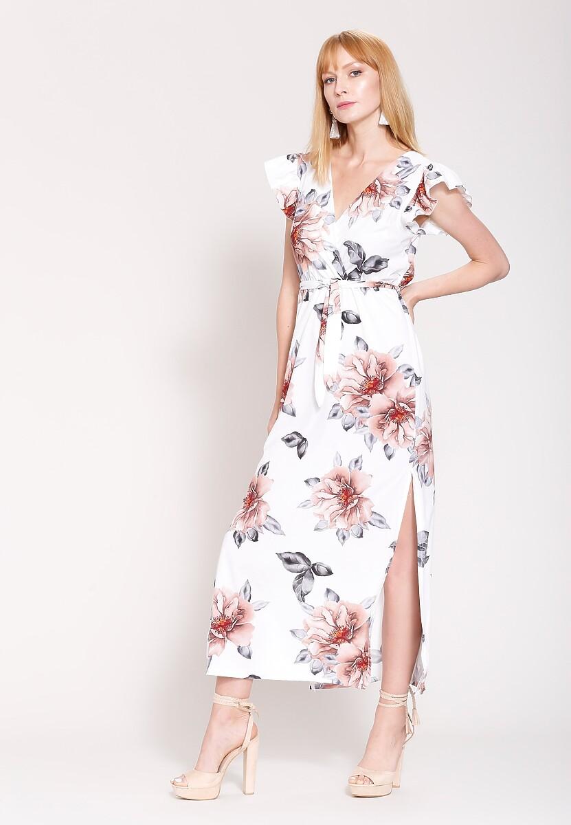 Biała Sukienka Yes For Love