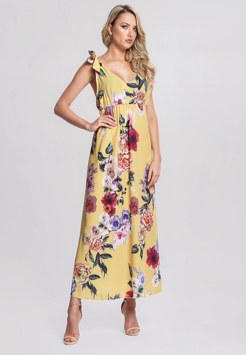 Żółta Sukienka Romantic Empire