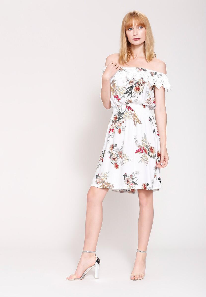 Biała Sukienka Field Of Blossoms