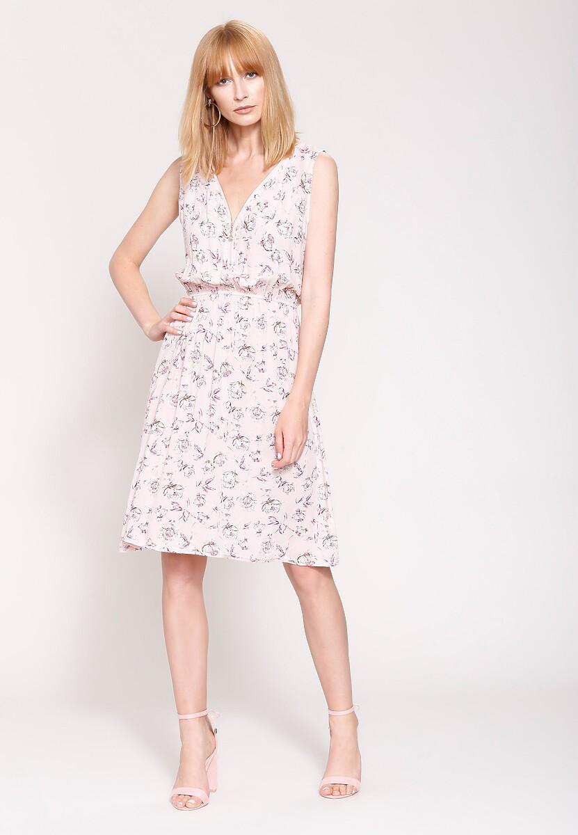 Różowa Sukienka Bright Accents