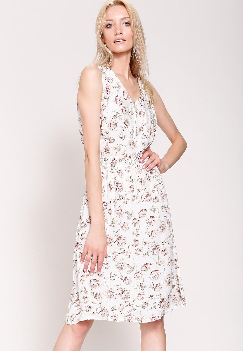 Biała Sukienka Bright Accents