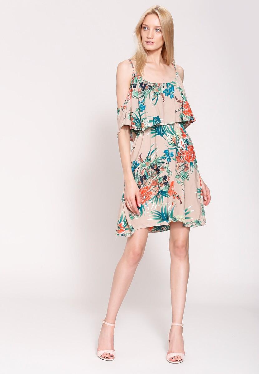 Ciemnobeżowa Sukienka Orange Blossom
