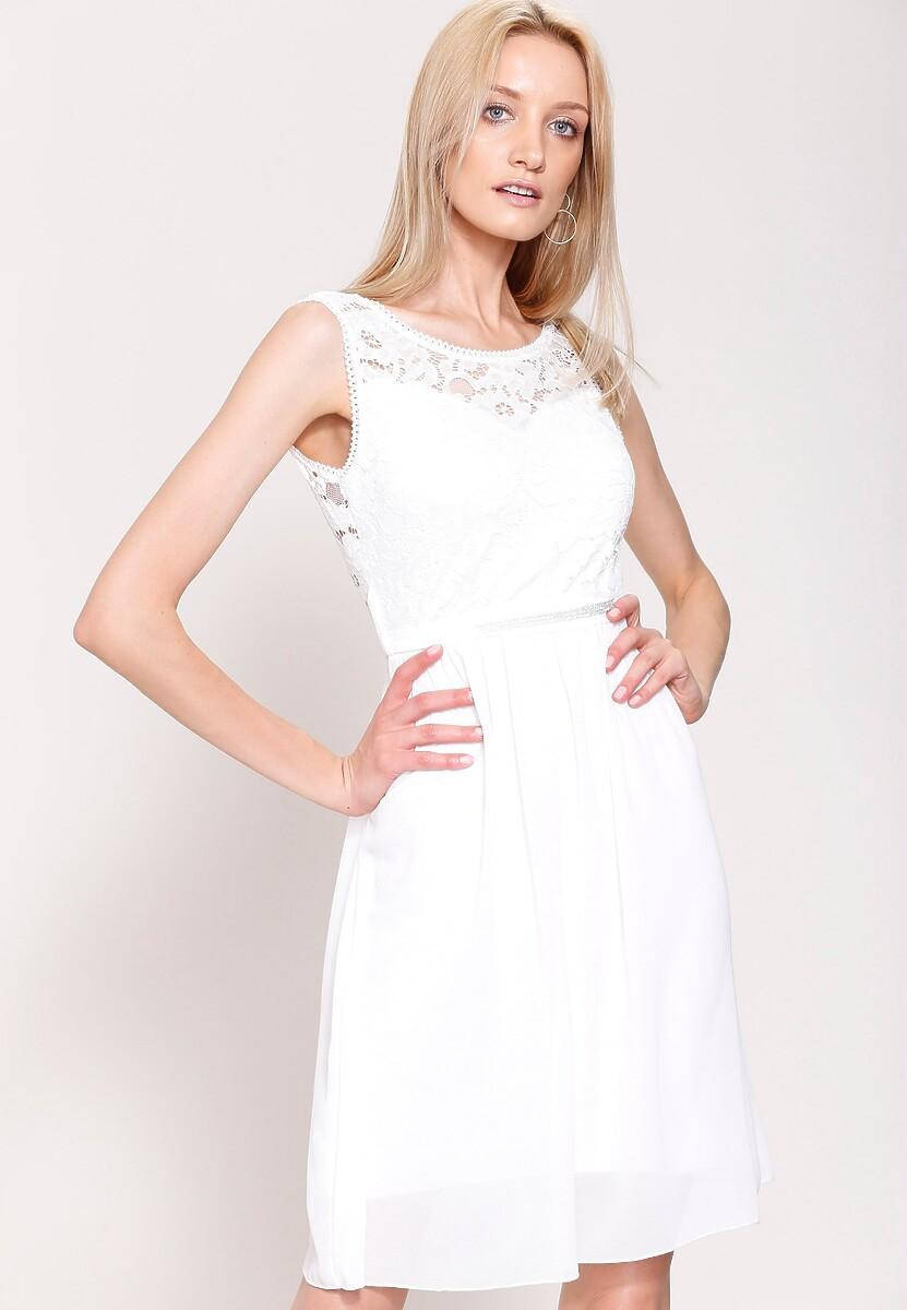 Biała Sukienka The City