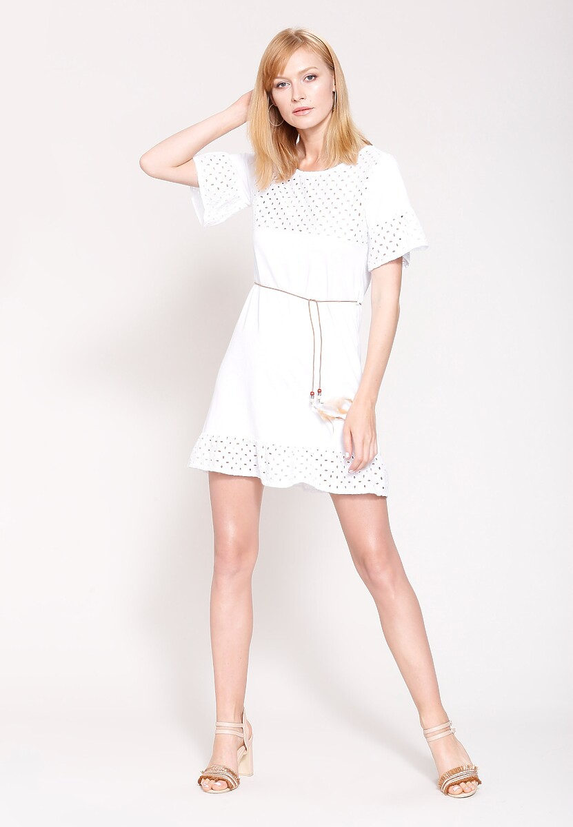 Biała Sukienka Morning Winds