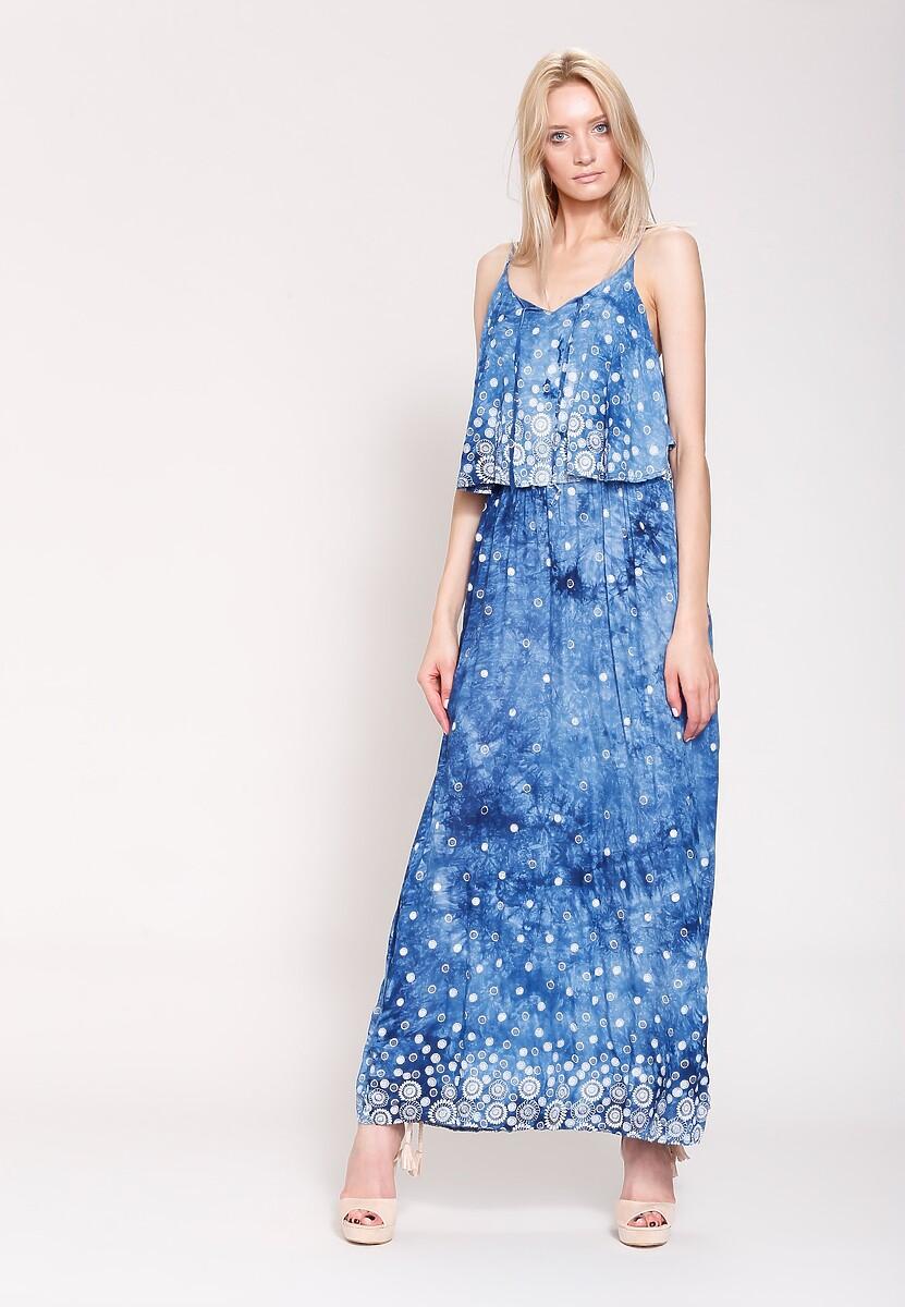 Niebieska Sukienka Hot Ladies