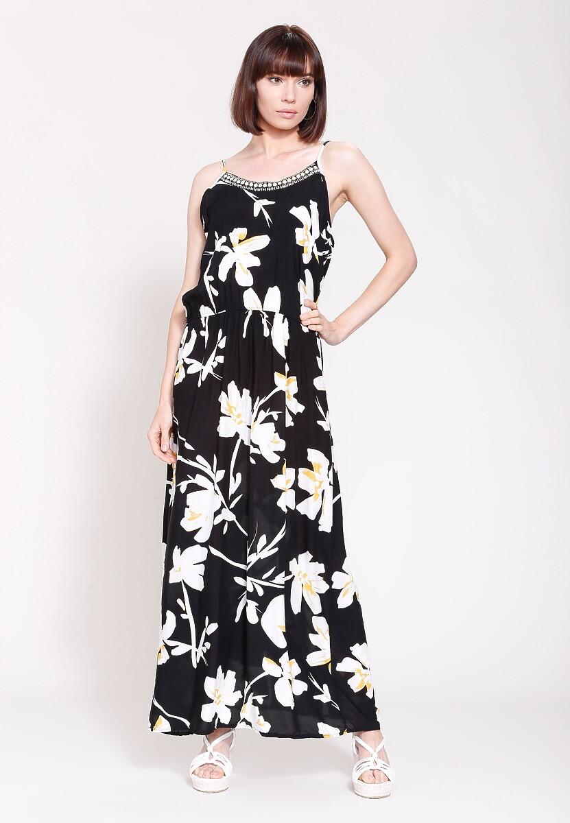 Czarno-Biała Sukienka Once Day