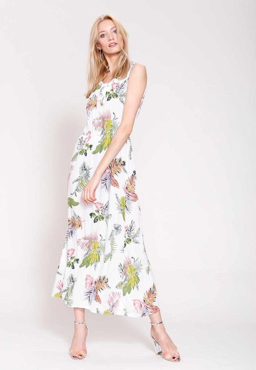 Biała Sukienka Flowers And Herbs