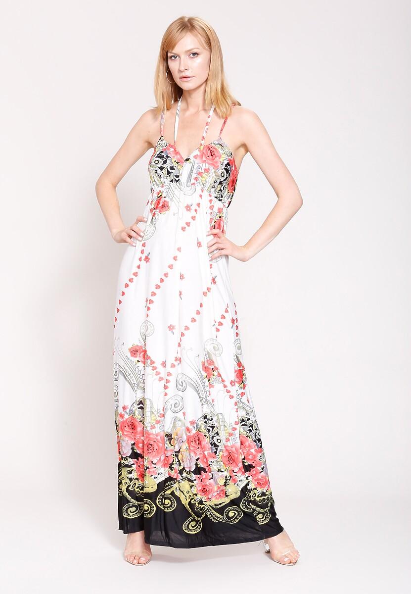 Biało-Czerwona Sukienka Powerful