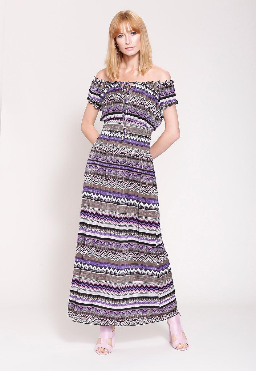 Fioletowa Sukienka Look Cool