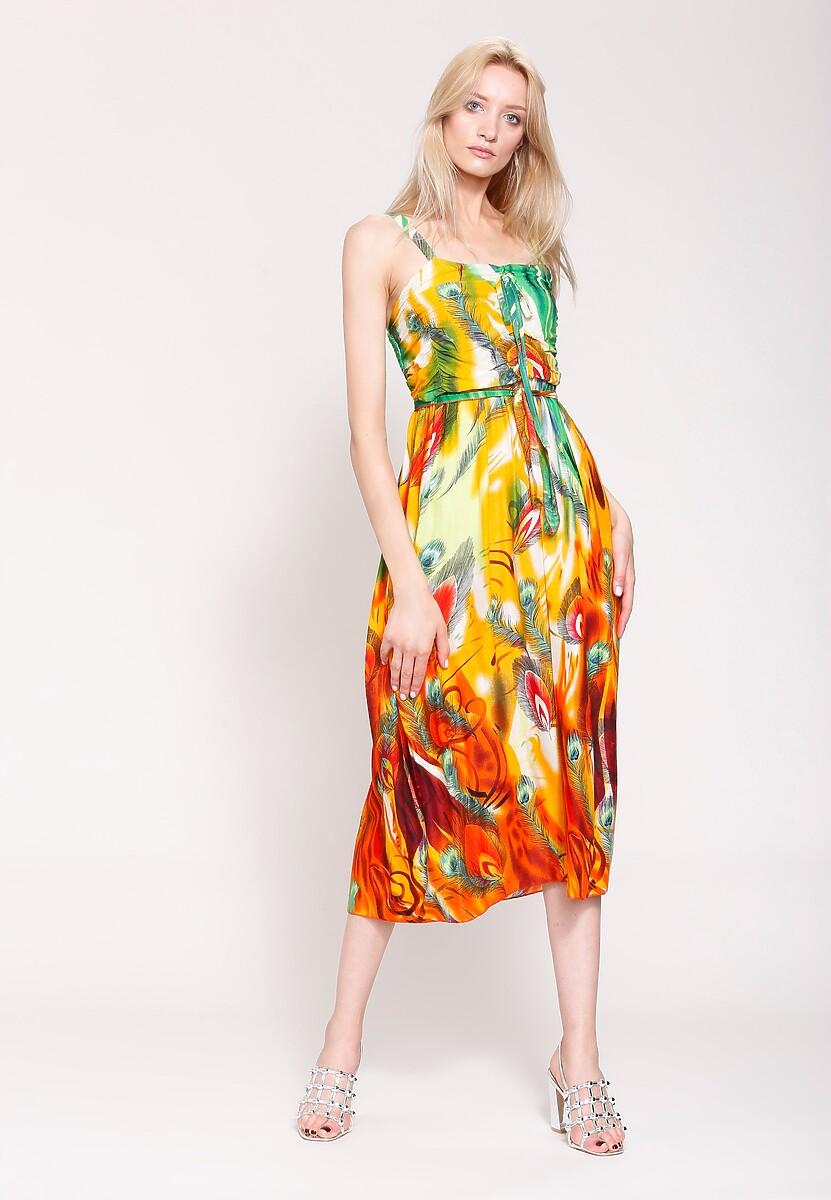 Pomarańczowa Sukienka Magical Objects