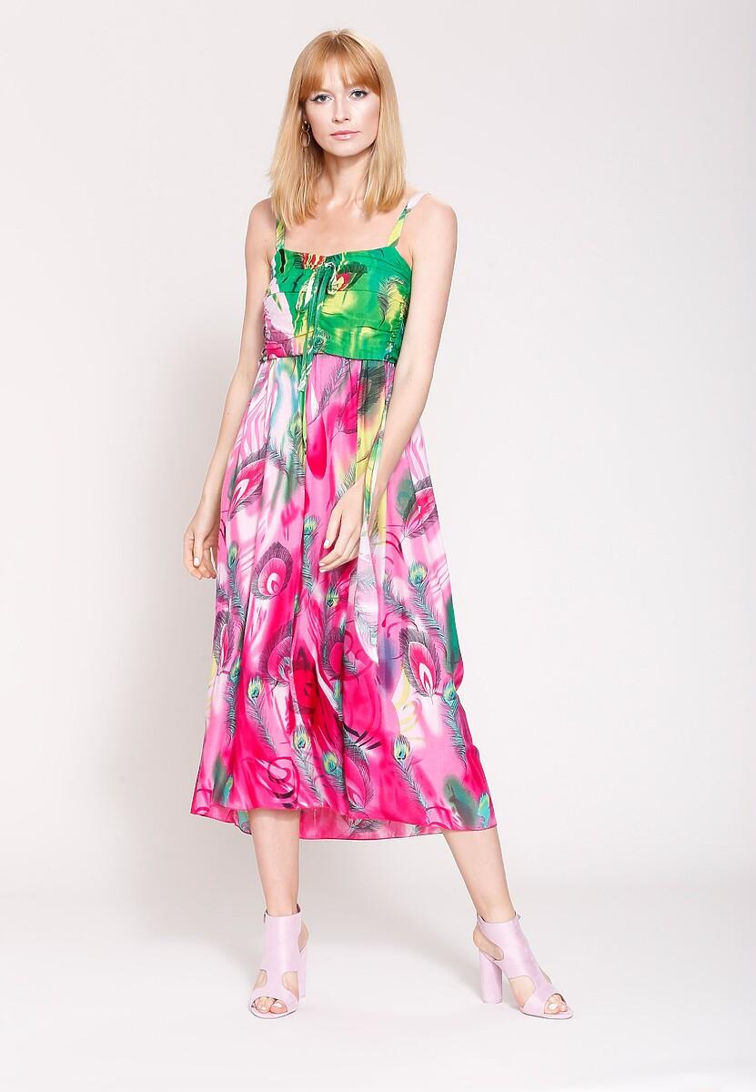 Fuksjowa Sukienka Vibrant Colors