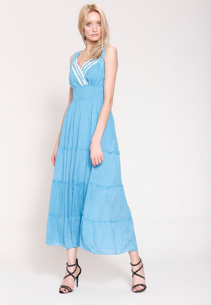 Niebieska Sukienka Summer Sun