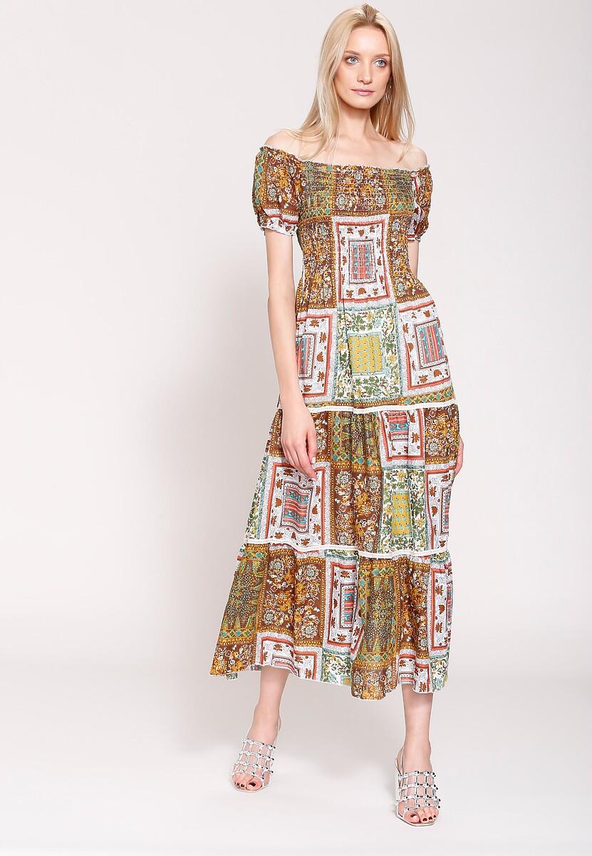 Brązowa Sukienka Marakesh's Sun