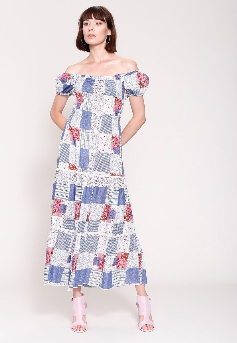 Niebieska Sukienka Marakesh's Sun