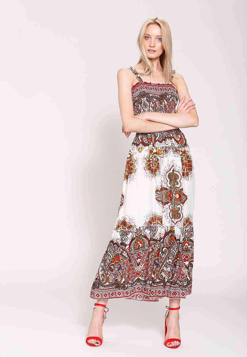 Czerwona Sukienka Oriental Mood