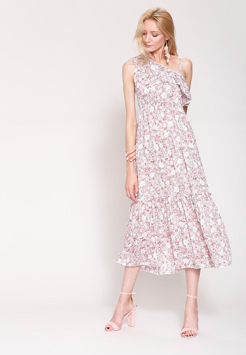 Różowa Sukienka Summer Wind