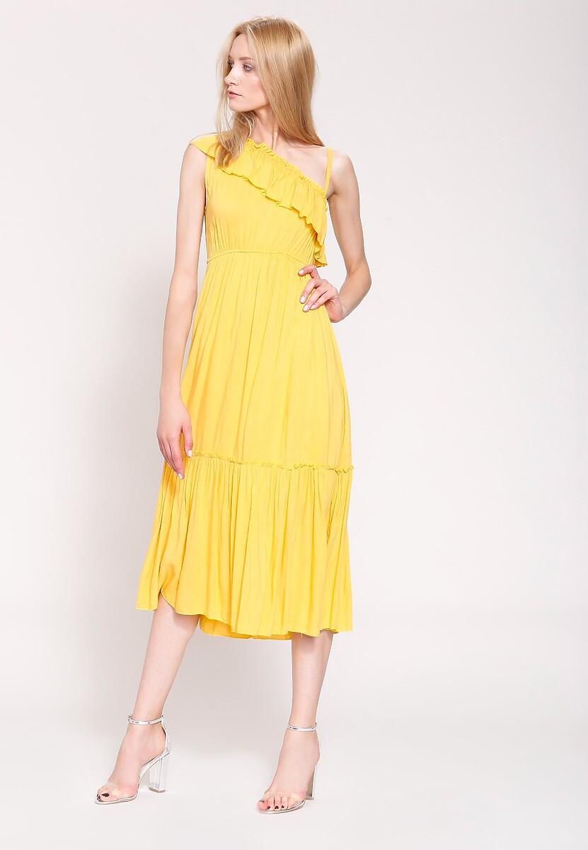 Żółta Sukienka Fantasy World