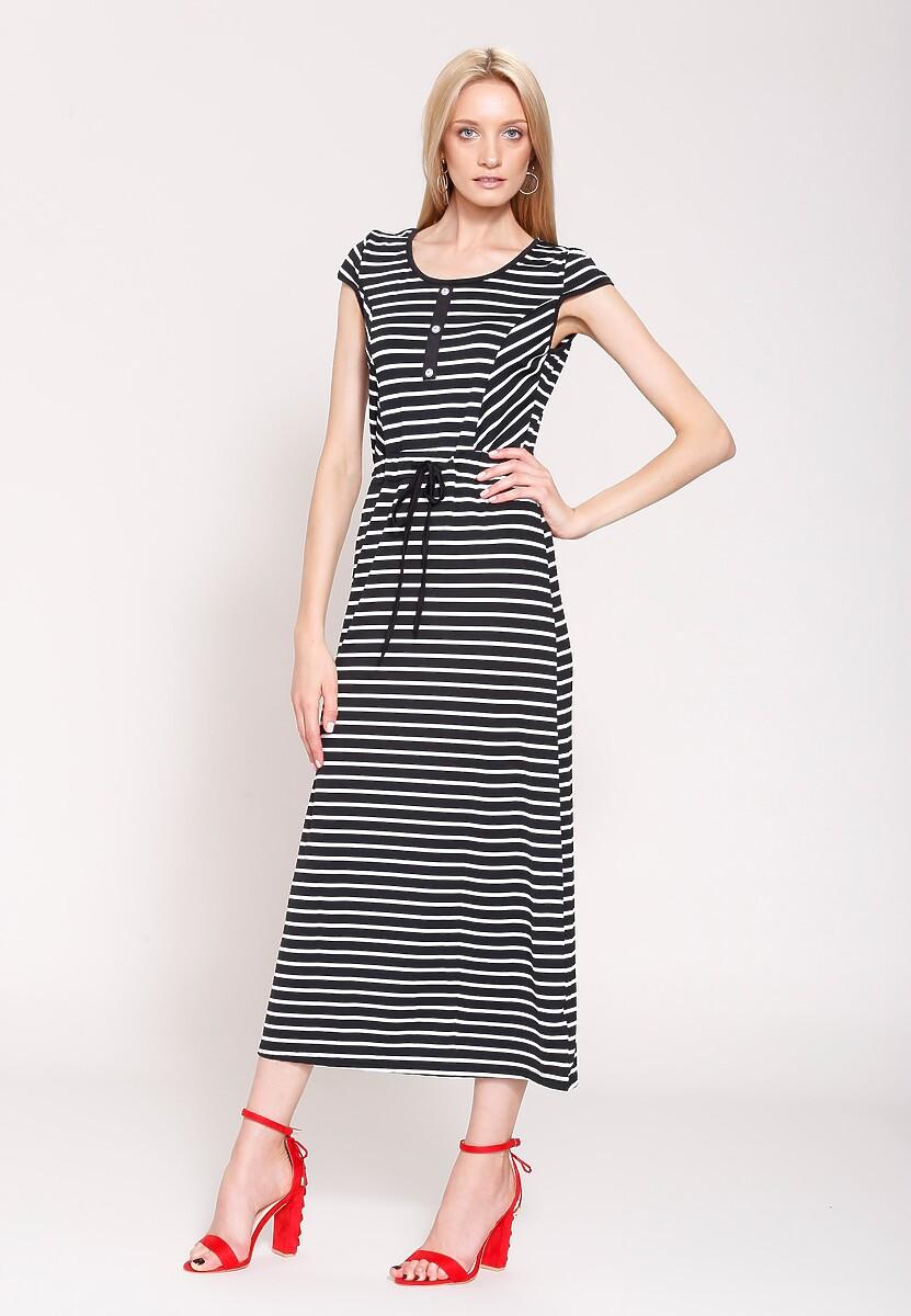 Czarno-Biała Sukienka Contrast Colors