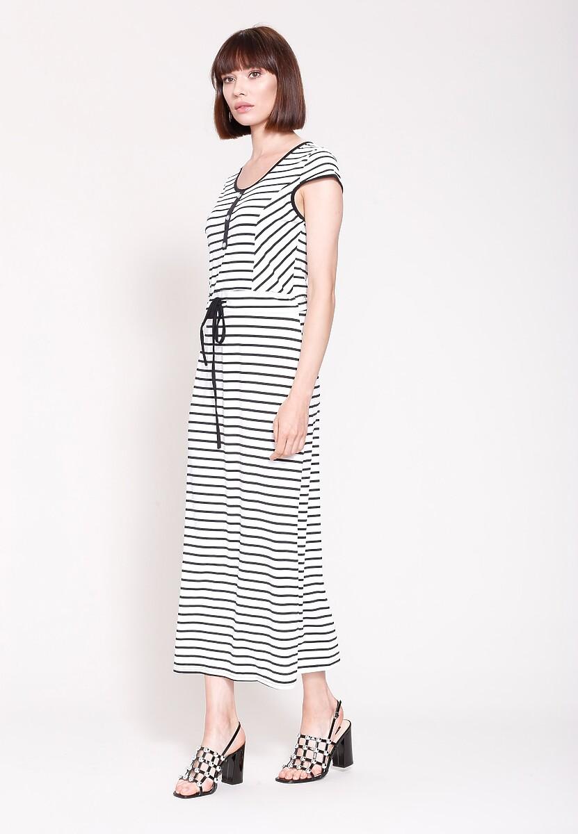 Biało-Czarna Sukienka Contrast Colors