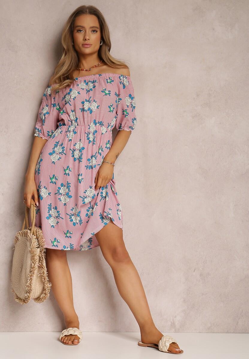 Różowa Sukienka Ocean's Of Flowers