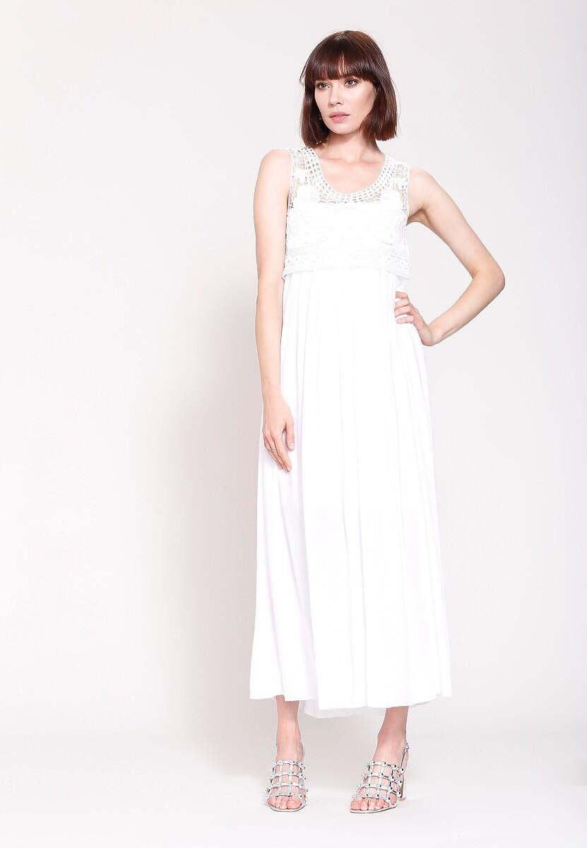 Biała Sukienka Empire Time