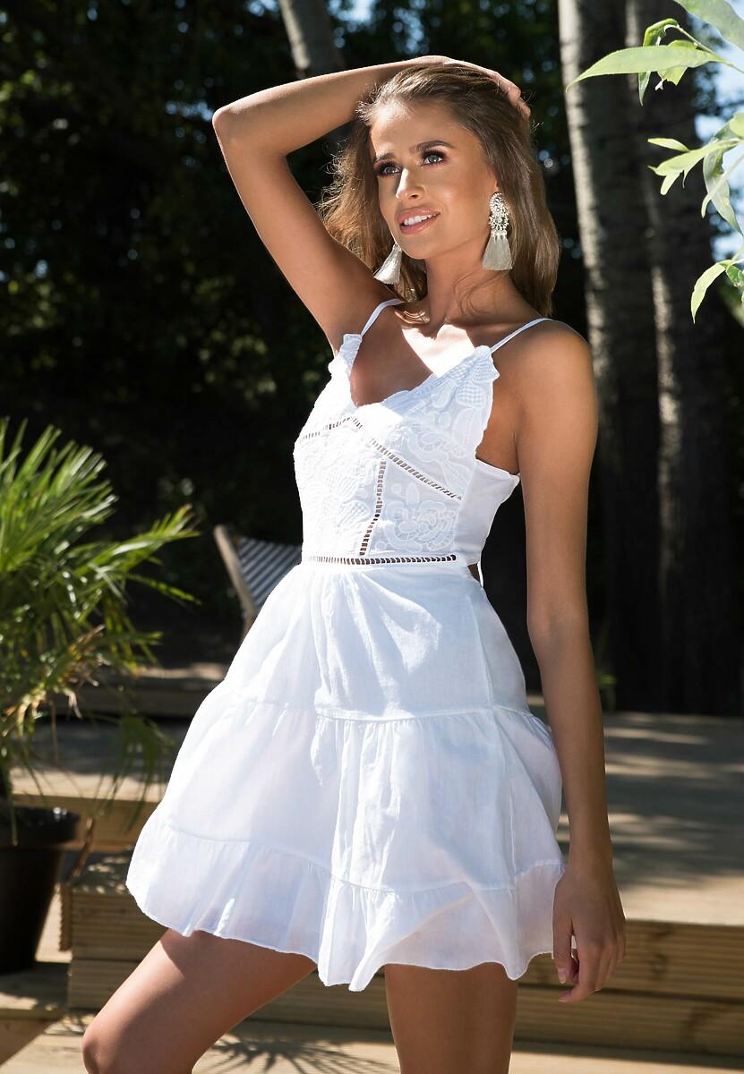 Biała Sukienka The Babylone Zone