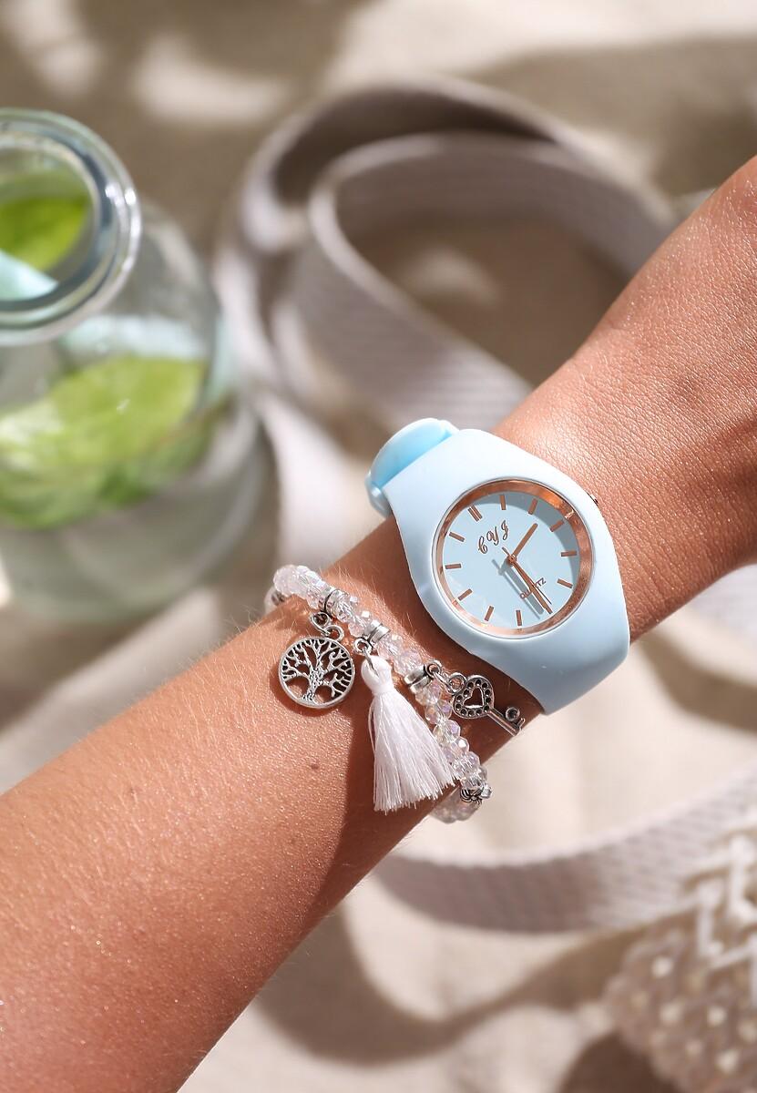Niebieski Zegarek Modern Time