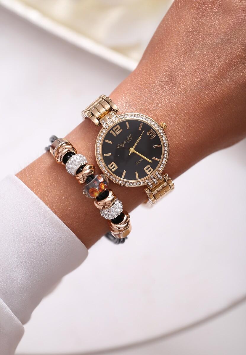 Czarno-Złoty Zegarek Elegance Style