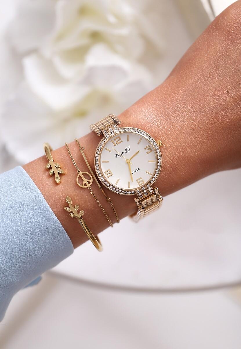 Biało-Złoty Zegarek Elegance Style