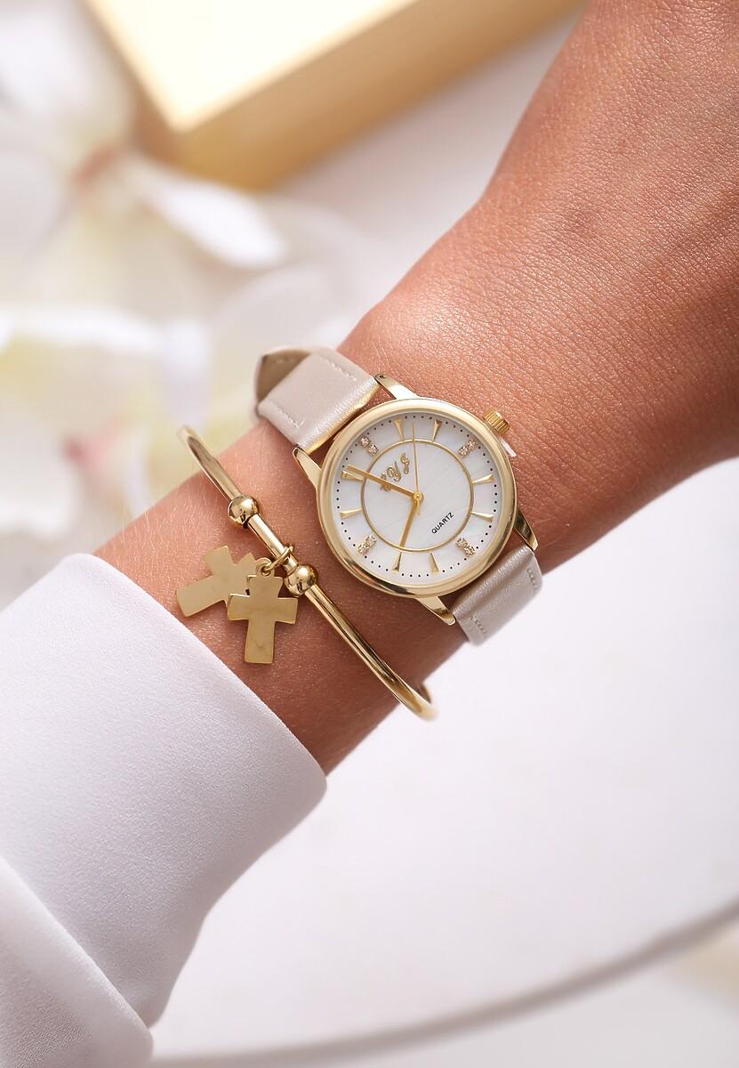 Beżowy Zegarek Last Time