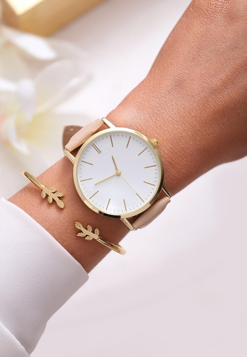 Beżowy Zegarek Perfect Timing