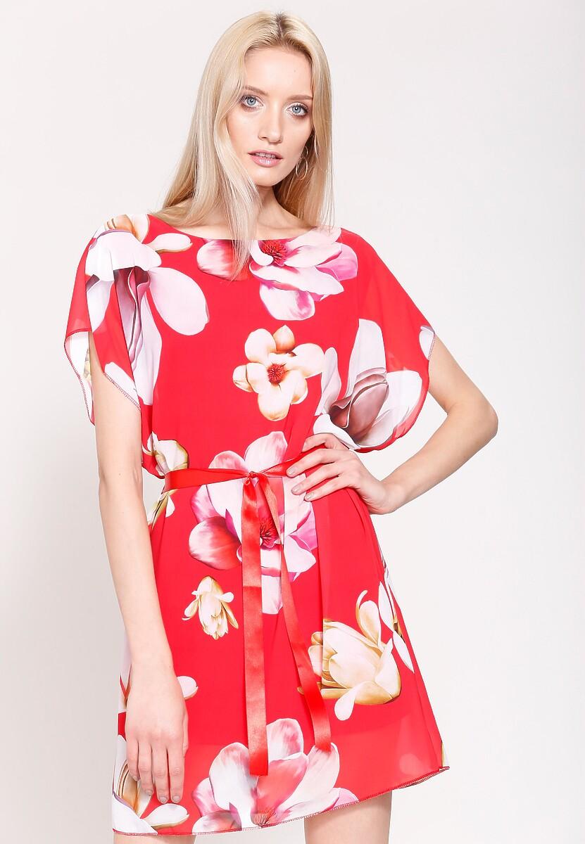 Czerwona Sukienka Spring Mood