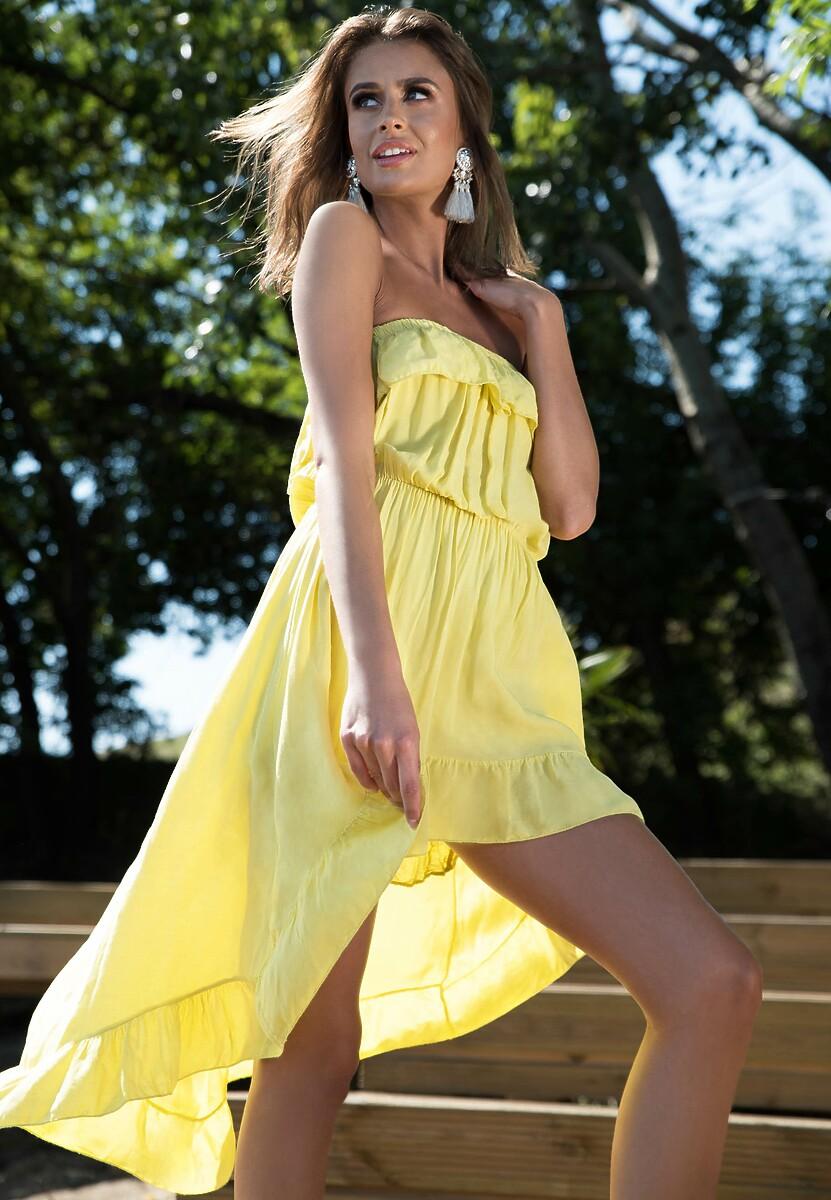 Żółta Sukienka Turn Up The Power