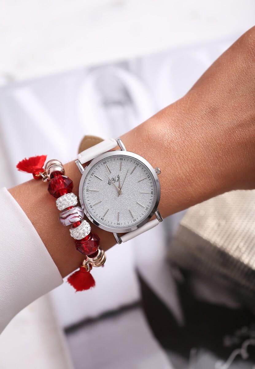 Biało-Srebrny Zegarek You Have Won