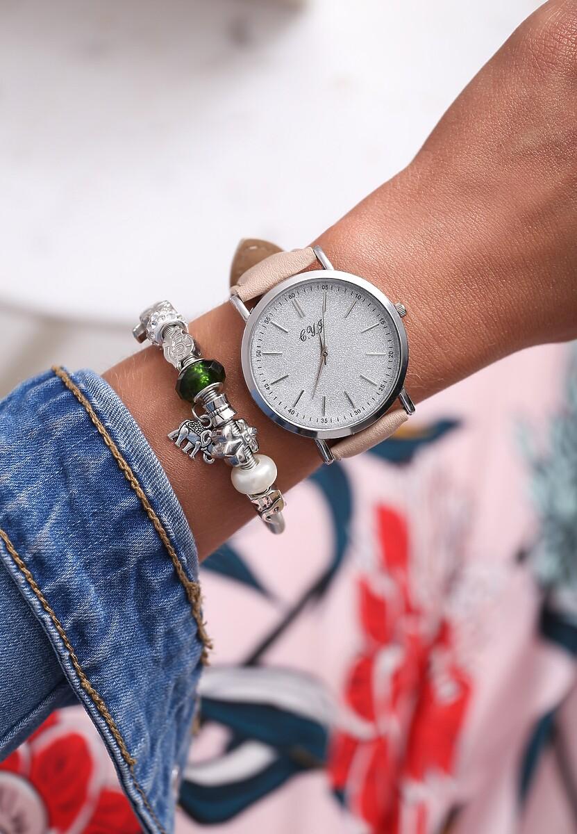 Beżowo-Srebrny Zegarek You Have Won