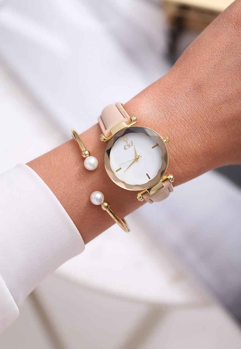Jasnobeżowy Zegarek On the Loose
