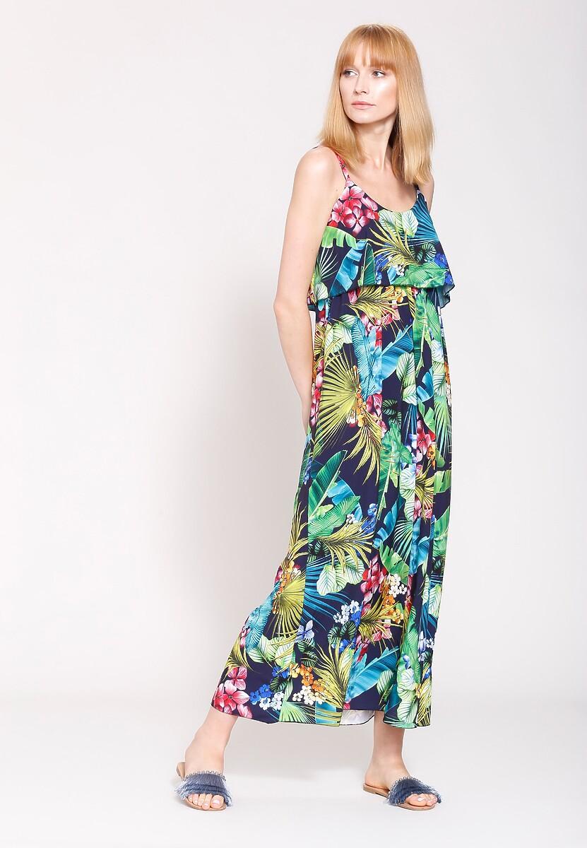 Granatowa Sukienka Around The World